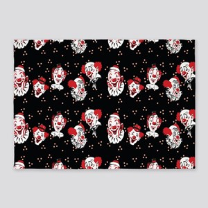 Clowns 5'x7'Area Rug