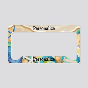 Summer Beach Custom License Plate Holder