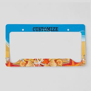 Summer Beach Seashell Custom License Plate Holder