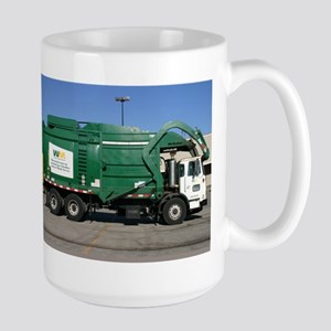 garbage truck love Stainless Steel Travel Mugs