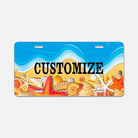 Summer Beach Custom Plat Aluminum License Plate