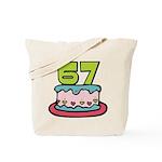67 Year Old Birthday Cake Tote Bag