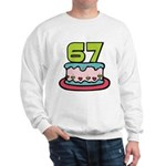 67 Year Old Birthday Cake Sweatshirt