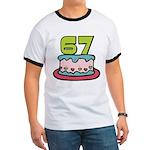 67 Year Old Birthday Cake Ringer T