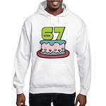 67 Year Old Birthday Cake Hooded Sweatshirt