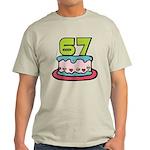 67 Year Old Birthday Cake Light T-Shirt