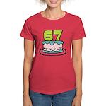 67 Year Old Birthday Cake Women's Dark T-Shirt