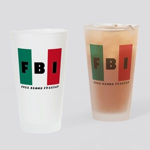 FBI Full Blood Italian Drinking Glass