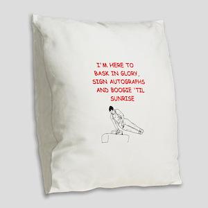sports joke Burlap Throw Pillow