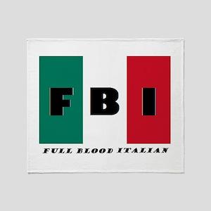 FBI Full Blood Italian Throw Blanket