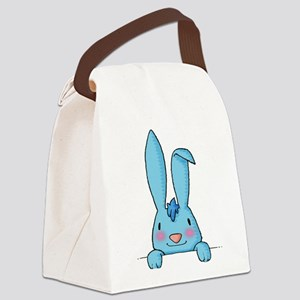 maternity Baby Rabbit blue Canvas Lunch Bag
