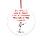 sports joke Ornament (Round)