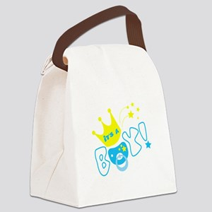 Its a boy pacifier Canvas Lunch Bag