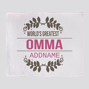 Personalized World's Greatest Omma Throw Blanket