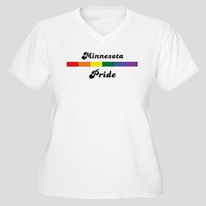 Minnesota pride Women's Plus Size V-Neck T-Shirt