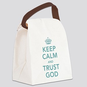 Keep Calm and Trust God Canvas Lunch Bag