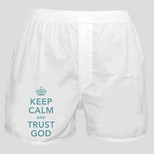 Keep Calm and Trust God Boxer Shorts