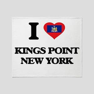 I love Kings Point New York Throw Blanket