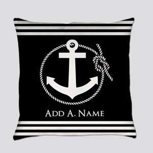 Black and White Nautical Rope and Anchor Everyday