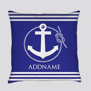 Blue Nautical Rope and Anchor Personalized Everyda