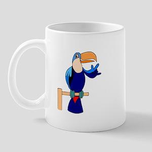 Parrot speaks ASL for a chang Mug