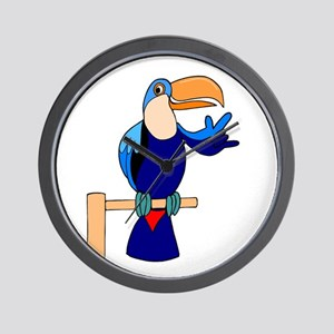 Parrot speaks ASL for a chang Wall Clock