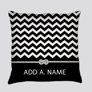 Black and White Chevron Persoanlized Everyday Pill