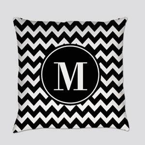 Black and White Chevron with Custom Monogram Every