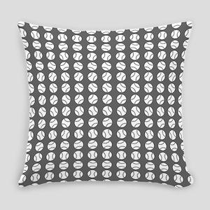 Sports: Baseball Ball Pattern Everyday Pillow