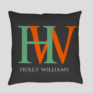 Large Monogram Personalized Everyday Pillow