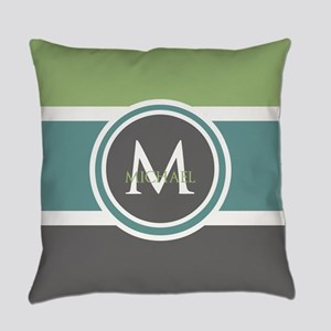 Elegant Modern Monogram Everyday Pillow
