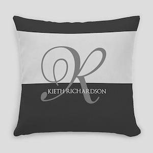 Elegant Custom Monogram Everyday Pillow