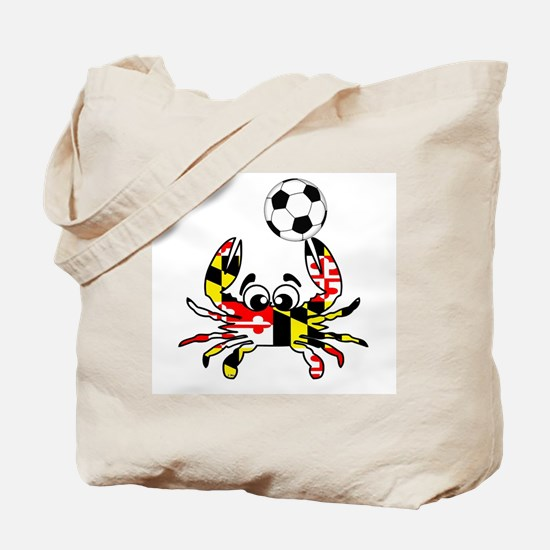 Maryland Crab With Soccer Ball Tote Bag