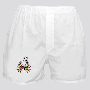 Maryland Crab With Soccer Ball Boxer Shorts