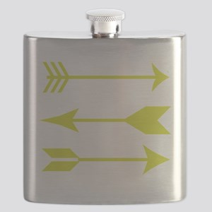 Chartreuse Arrows Flask