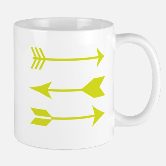 Chartreuse Arrows Mugs