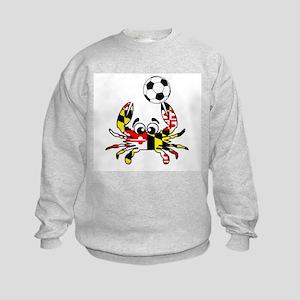 Maryland Crab With Soccer Ball Kids Sweatshirt