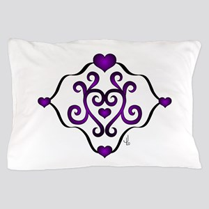 TShirtPurpleHeartDesign Pillow Case