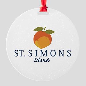 St. Simons Island - Georgia. Round Ornament