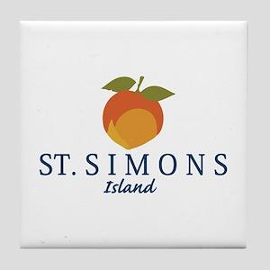 St. Simons Island - Georgia. Tile Coaster