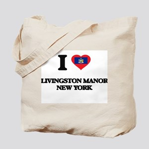 I love Livingston Manor New York Tote Bag