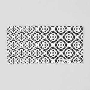 Floral Nouveau Deco Pattern Aluminum License Plate