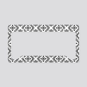 Floral Nouveau Deco Pattern License Plate Holder