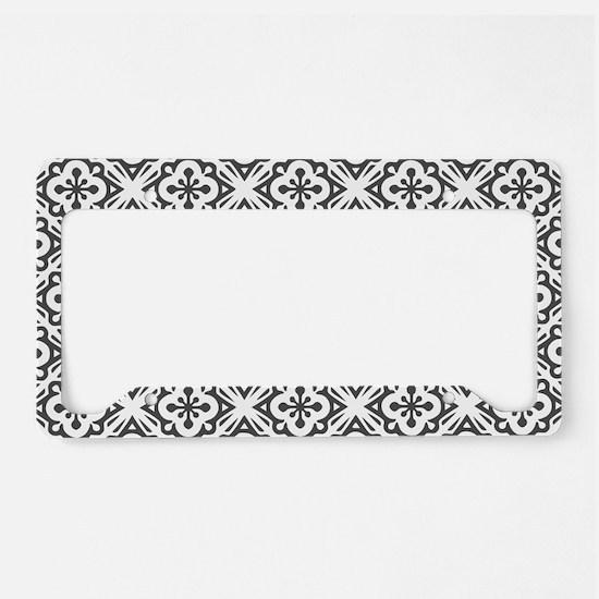 Floral Nouveau Deco Pattern License Plate Holder