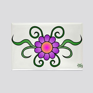 Sticker Rectangular 5.5x3.5 H Flower Magnets