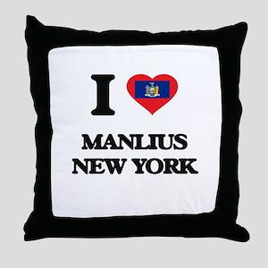 I love Manlius New York Throw Pillow