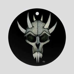 Mousepad 9.5x8 SpikedSkull Ornament (Round)