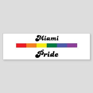Miami pride Bumper Sticker