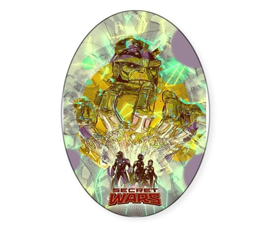 Infinity gauntlet sticker oval