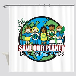 Save Our Planet Shower Curtain